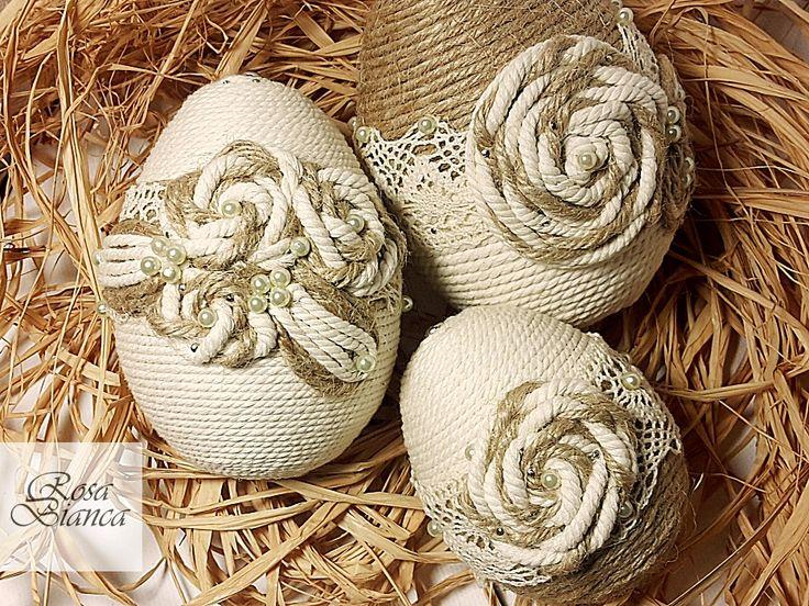 Zestaw 3 ręcznie robionych jajek wielkanocnych | http://dekoeko.com/product/zestaw-3-recznie-robionych-jajek-wielkanocnych/ | Kup na www.dekoeko.com