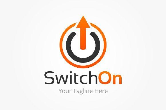 Switch On Logo Template Logo Templates Logo Design Template Logos