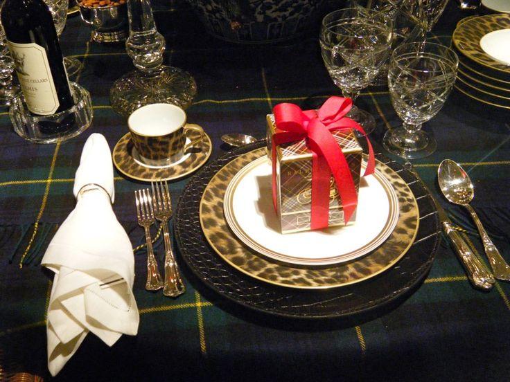 Ralph Lauren Table Linens Part - 46: Ralph Laurenu0027s Christmas Table