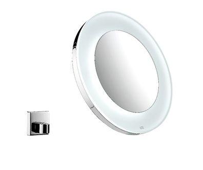 Emco Bad: Rasier- und Kosmetikspiegel LED Akku Kosmetikspiegel Chrom Artikel Nr: 1096 001 13  5x forstørrelse