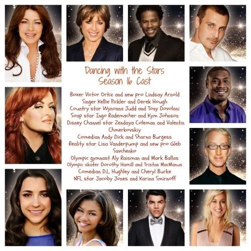 Dancing with the Stars Cast- Season 16 List