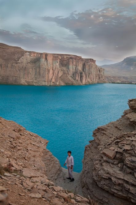 Band-e-Amir Lake, not far from Bamiyan Valley ,Afghanistan by Mike Connolly, visited there in late 70's.