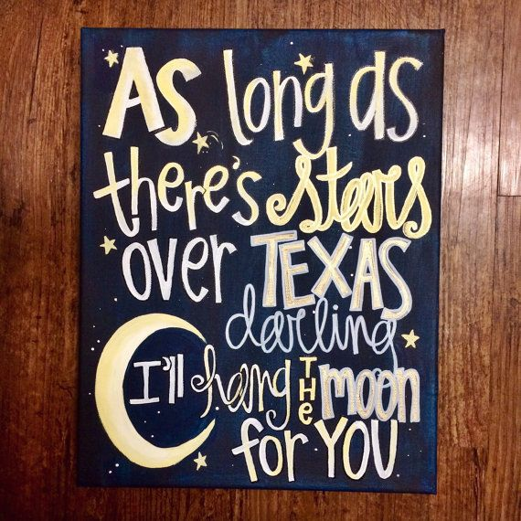 Stars over Texas by KuskisCalligraphy on Etsy
