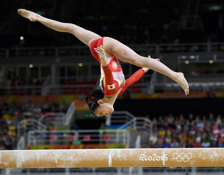 #rio2016  Aiko Sugihara (JPN) of Japan competes on the beam during the women's qualifications in Artistic Gymnastics