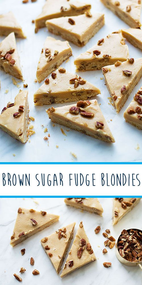 Brown sugar fudge blondies are the ultimate Christmas cookie hybrid! Try now from Livelymess.