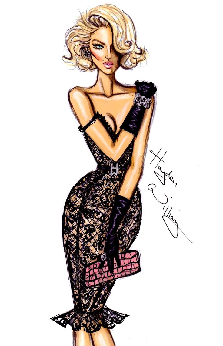 #Hayden Williams Fashion Illustrations: Leather & Lace by Hayden Williams