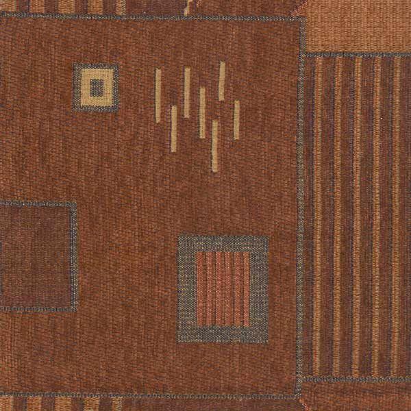 Brown Geometric Runner. www.tableclothhiring.co.za