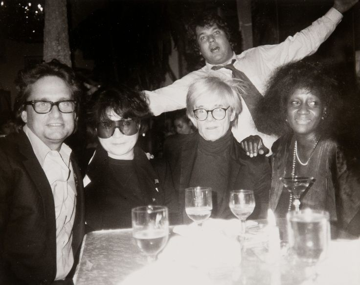 Andy Warhol - Andy Warhol, Michael Douglas, Yoko Ono, Jann Wenner, and Unidentified Woman