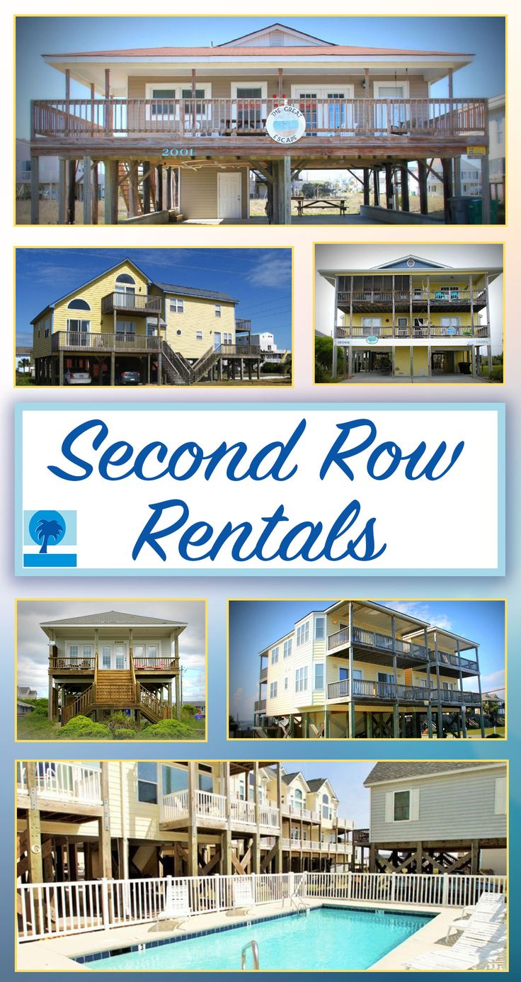 2nd Row doesn't mean 2nd best when it comes to beach vacation rentals! Check out what we have to offer on Topsail Island!