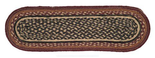 "Bancroft Jute Stair Tread Oval 8.5x27"" by Victorian Heart. $11.20. Bancroft Collection colors: Burgundy, Black, Brown, Khaki (not all items have all colors). High end quality and workmanship!. Extensive line of matching items and accessories available! (Search by Collection name). Product measurements and additional details listed in title and/or Product Description below.. All cloth items in our collections are 100% preshrunk cotton. All braided items (like ru..."