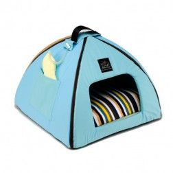 Iglu Para Perros Mon Petit Dome Azul Claro