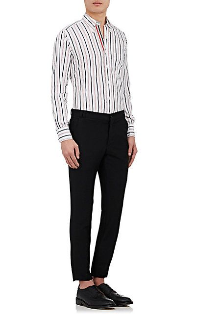 Thom Browne Striped Broadcloth Shirt - Casual - 504844905