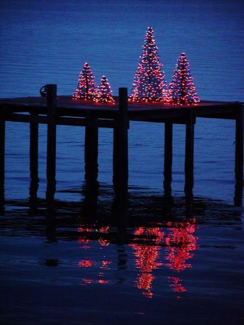 very nice Christmas Display with red led lights