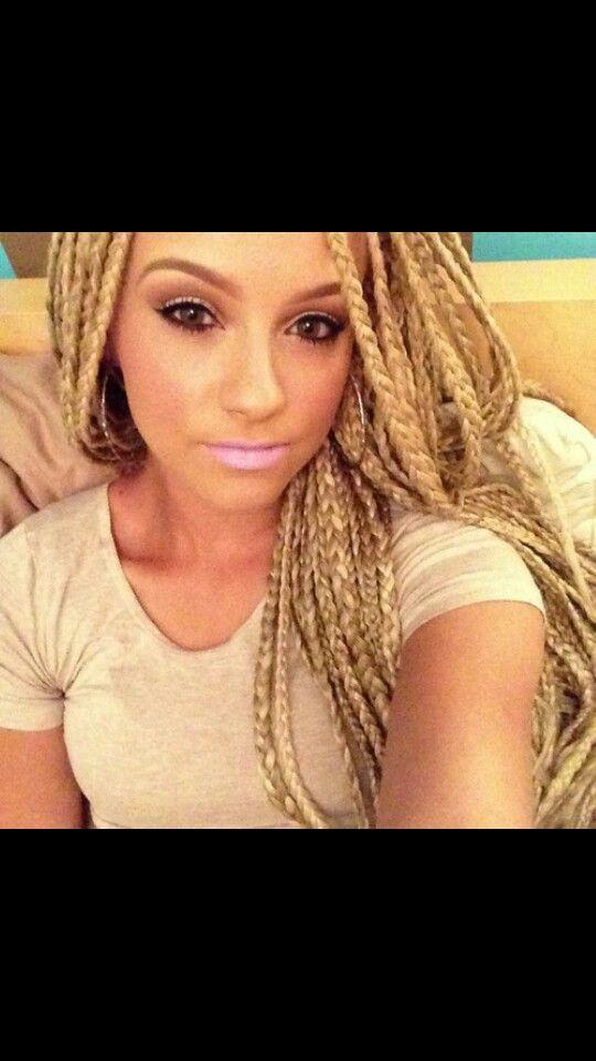 White Girl Box Braids Haircuts Amp Hairstyles Pinterest