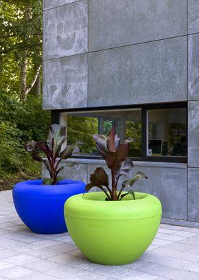 Bright planters.