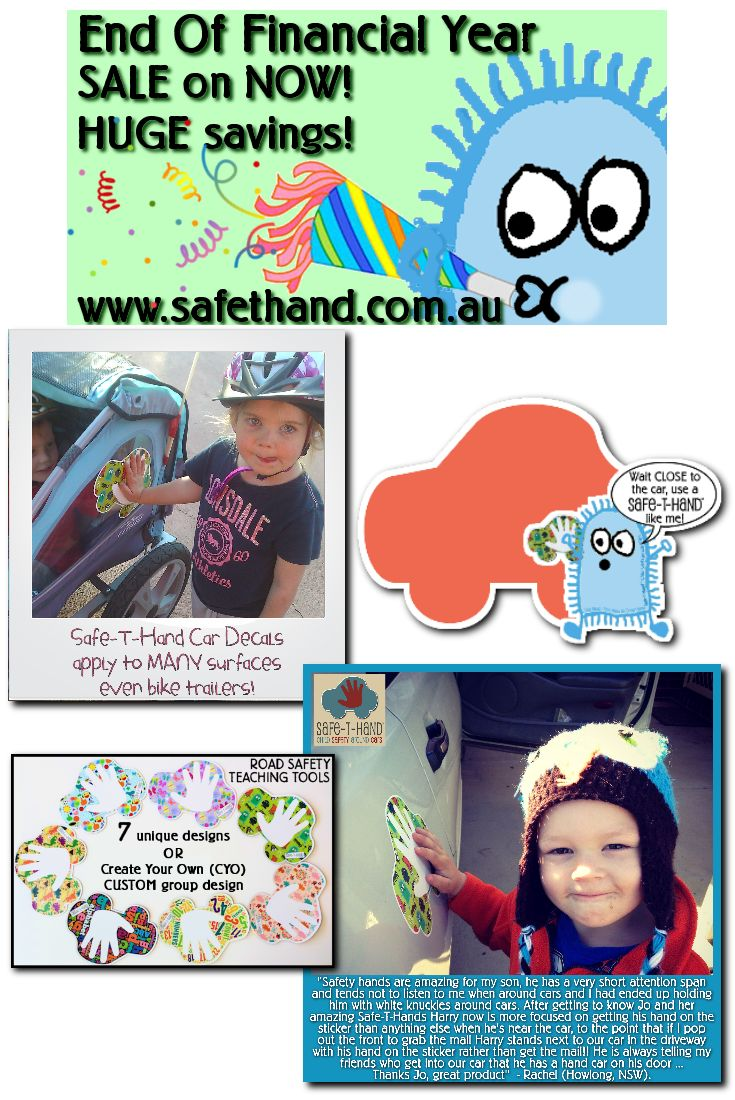 End Of Financial Year SALE at Safe-T-Hand! www.safethand.com.au #sale #eofy #child #road #safety #education