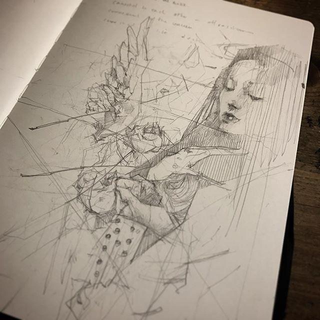 Holding on or letting go? Sketchbook scribbles #pencil #graphite #moleskine #craww #sketchbook