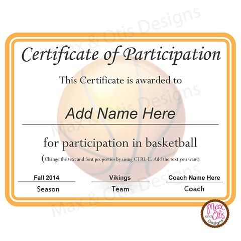 certificate of participation template 79 best images about max amp otis designs printable 20801