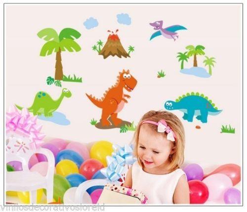 Pegatinas decorativas infantiles dinosaurios 2 130 70cm for Vinilos infantiles bebe