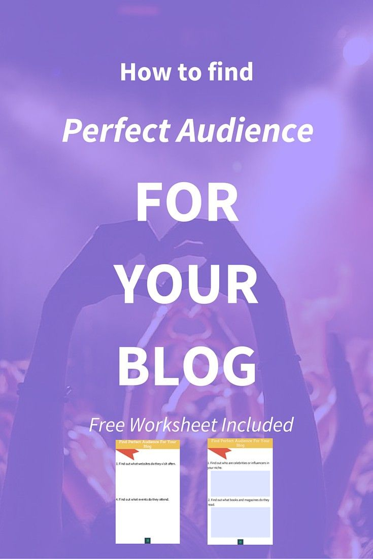 If you don't know your audience persona then it is better to stop blogging. These six simple ideas will show you how to find perfect audience for your blog + business. Free worksheet included. Click through to read the right method + to get your free worksheet>>>