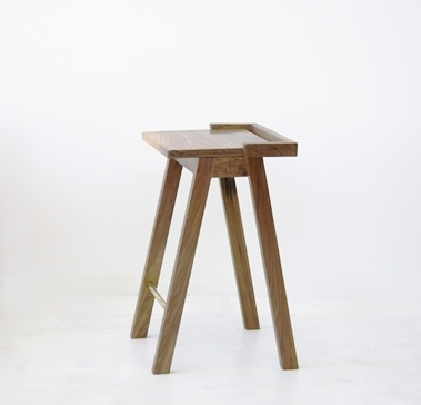 Kantti barstool in walnut by Deka Design