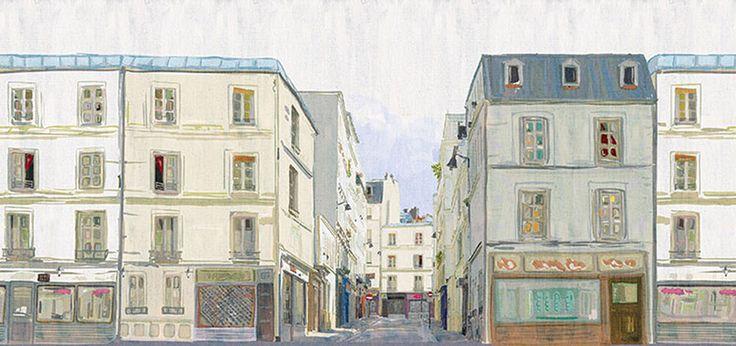 Carta da parati soggetto Parigi in vendita da Domus arredi Lissone www.domusarredilissone.it