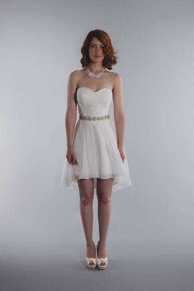 Vestidos de novia cortos: diseños que te enamorarán. ¡Elige el tuyo! Image: 28