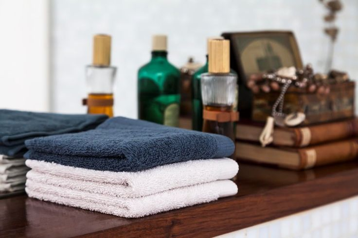 Terry bath towels. Several colors. Fluffy and snug!