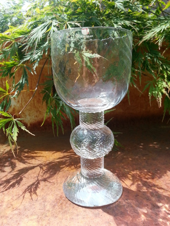 Vintage Iittala large glass viinilasi Ritari by by fcollectables, €25.00