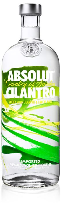 2 parts ABSOLUT CILANTRO 2 parts Red Grapefruit Juice 1⁄2 part Simple Syrup Club Soda Shake first three ingredients with ice, and strain over fresh ice into a highball glass. Top with club soda, and garnish with a grapefruit wedge