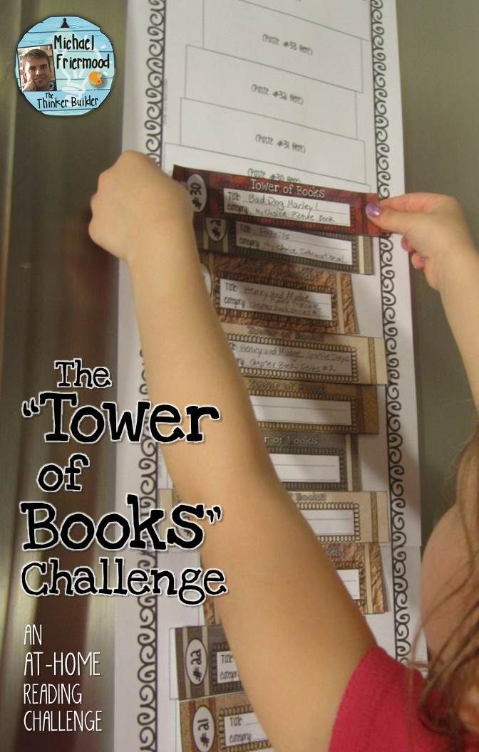 'Tower of Books' is a fresh alternative to your stuck-in-a-rut reading log. 2-D and 3-D versions, with lots of reading list options! ($)