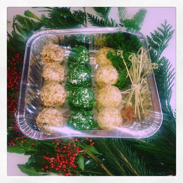 Cheeseball truffles 3 ways...herbed goat cheese & Meyer lemon cranberry pecan & Gorgonzola walnut #appetizer #holidayfood #healthy #pasorobles #bayarea #minicheeseballs #cheeseballs #cleaneating #healthyliving #healthylifestyle #smallbites #partyfood #goatcheese #gorgonzola #cranberrypecan #centralcoast #centralcoastca #slocounty #foodie #foodporn #camade #shopsmall by fiestasalsa
