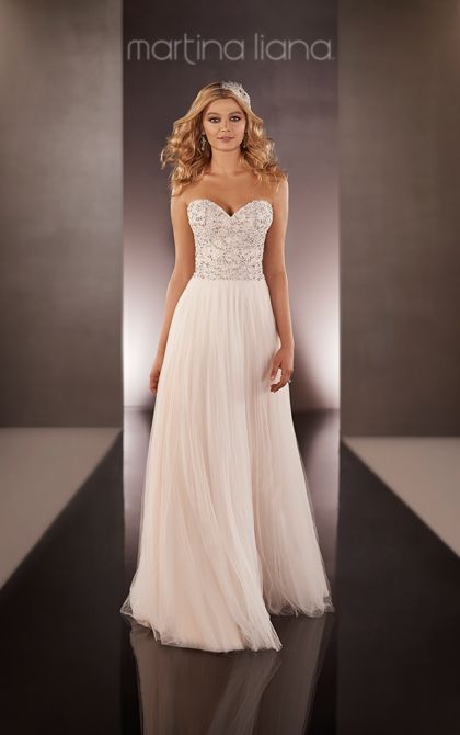 Silk Chiffon Sheath Wedding Dress | Martina Liana