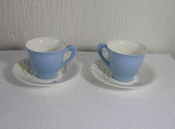 vintage figgjo flint of norway crocus 2 coffee Cups by DutchTrader, £12.00