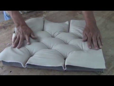 HOW TO REUPHOLSTER A TUFTED HEADBOARD AND INSTALL THE BED FRAME TOGETHER - ALOWORLD - YouTube