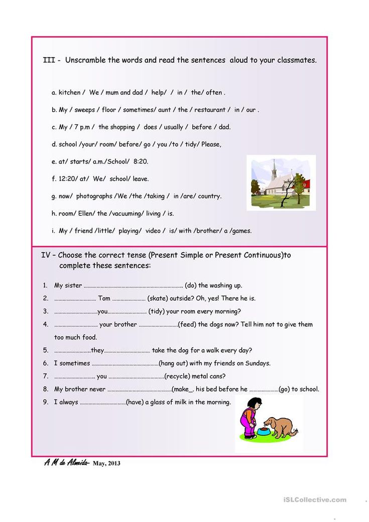Present Simple or Continuous? worksheet - Free ESL printable worksheets made by teachers