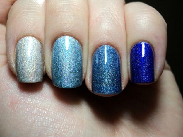 Омбре маникюр с переходом цвета между пятью ноготками одной руки на выпускной ::: onelady.ru ::: #nail #nails #nailart #manicure