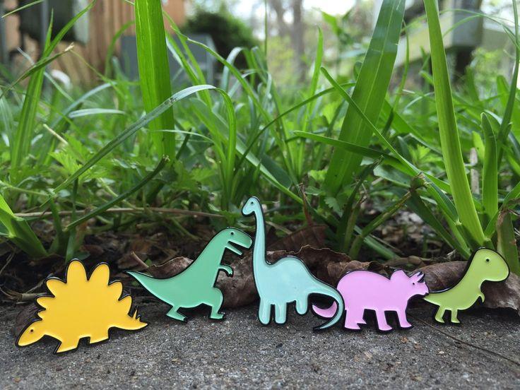 Image of Marshmallow Dinosaurs Enamel Lapel Pin Badge