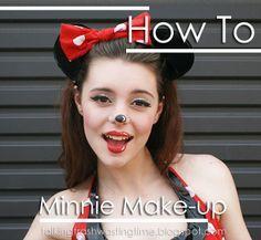 Speciaal voor bij je Minnie Mouse kostuum: Minnie Mouse cartoon Make-up >>> Klik op de afbeelding voor een stap-voor-stap Engelstalig tutorial