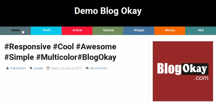 How To Add Multi Color Responsive Menu To Blogger