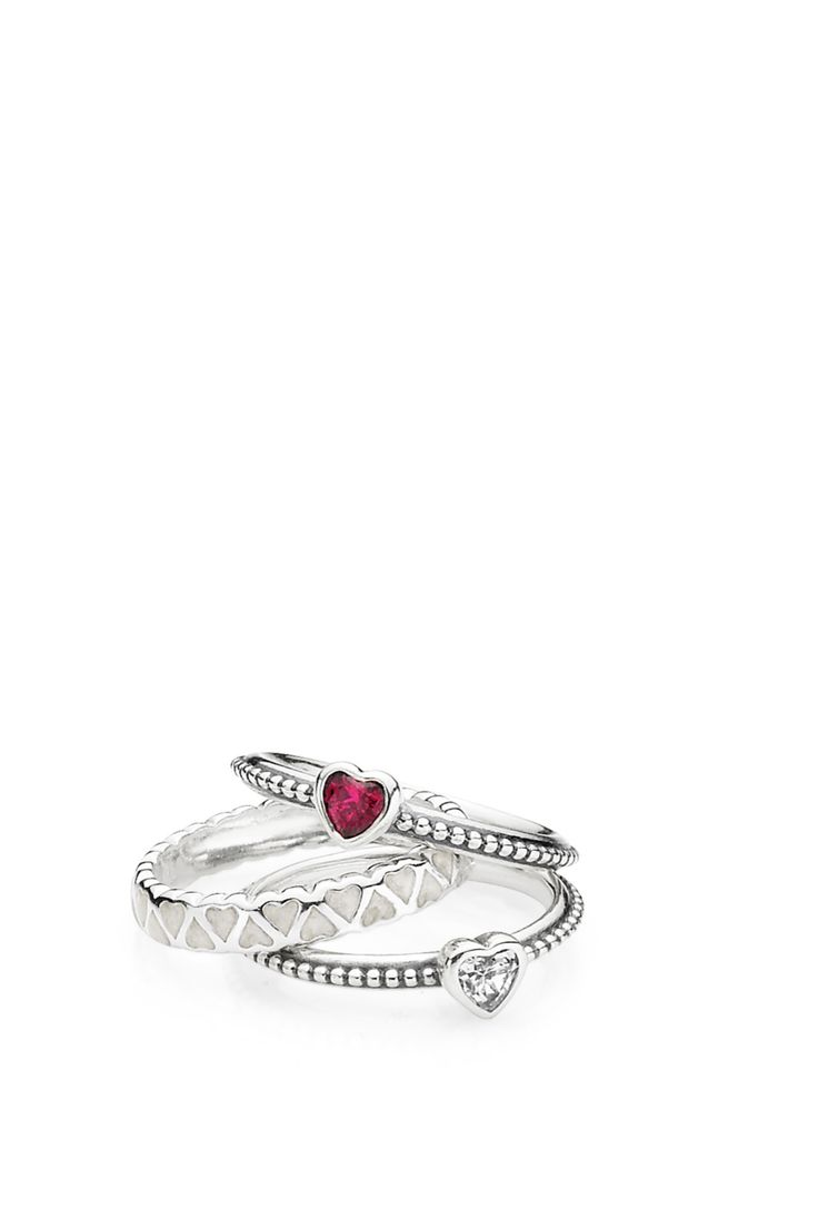 Wear your heart on your finger with these adorable rings by PANDORA. #PANDORAring