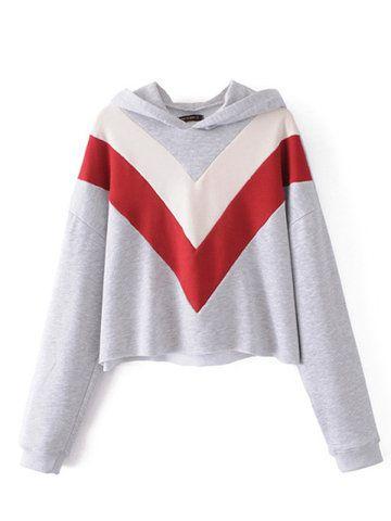 Stylish Casual Women Patchwork Short Hoodies Sweatshirts - NewChic Mobile.