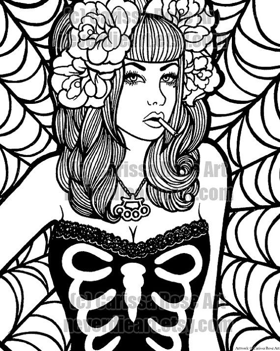 sexy pin up girl coloring pages - Google Search   Coloring pages for ...