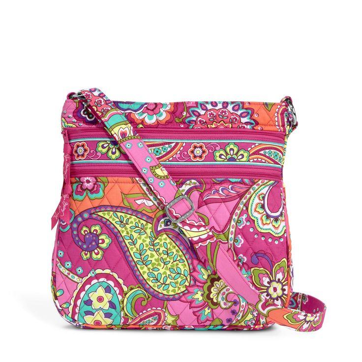 Triple Zip Hipster in Pink Swirls, $58 | Vera Bradley- Want it in ink blue!!