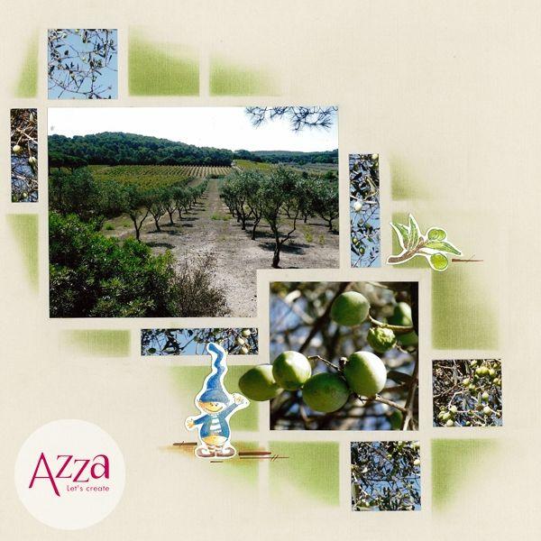 Les oliviers | Azza - Leader du scrapbooking