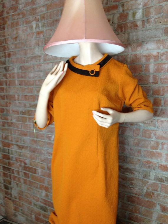Vintage Mid Century Modern Polyester Day Dress by TheJavaShop, $42.00