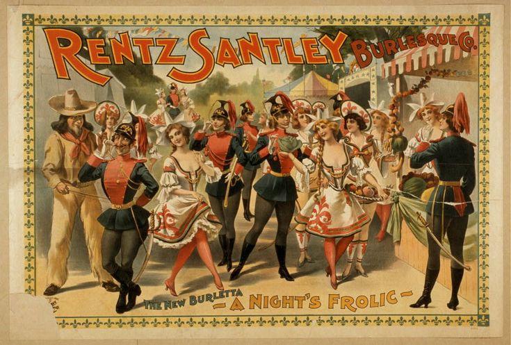 marinni: Бурлеск. Театральные афиши конца 19 века.