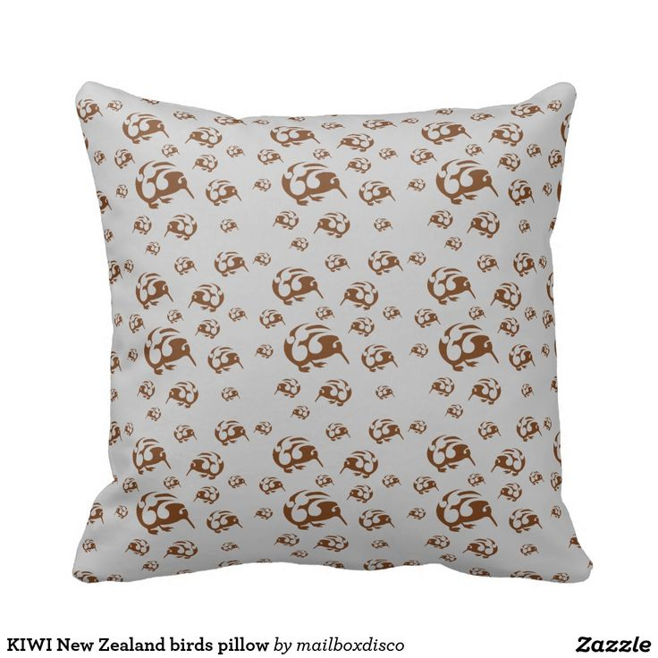 KIWI New Zealand birds pillow