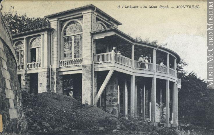 Le belvédère sur le mont Royal, Montréal, QC, vers 1907