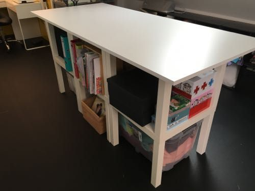 3 toiles atelier couture table de coupe 6 tables - Coin de table ikea ...